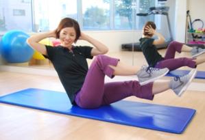 体幹トレーニング、ピラティスコースもございます。